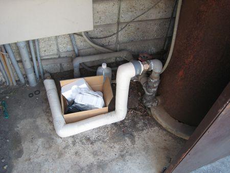 井戸ポンプ配管